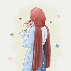 Cartoon Girl Images, Cute Cartoon Girl, Cartoon Girl Drawing, Cartoon Art, Islamic Girl Images, Islamic Art, Hijab Drawing, Islamic Cartoon, Hijab Cartoon