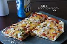 According to L: Grilled Bacon-Jalepeno Pizza