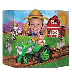 Celebrate life down on the farm with the Farm Photo Prop. The 37 wide x 25 high Farm Photo Prop is perfect for kids and adults.