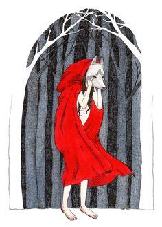 Pq yo soy la caperucita y el lobo, corriendo en el bosque.