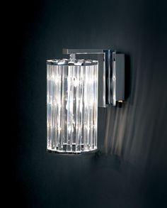 805-3WB 3 Light Crystal Wall Light