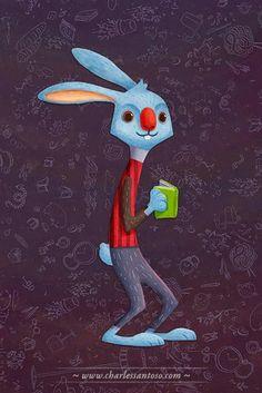 Pinzellades al món: Alícia en el País de la Lectura / Wonderland Books - White Rabbit by Charles Santoso
