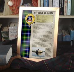 This clan history complete with crest and tartan is printed on 100gsm high quality parchment...