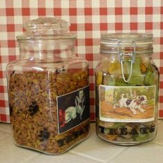 Many vintage images and instructions for various crafts Pet treat jar photo