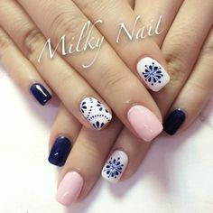 30 Super Nail Art Ideas for Short Nails 2019 Stylish Cindy Dingwell Nagel Hair And Nails, My Nails, Short Nails Art, Manicure E Pedicure, Pedicures, Nail Swag, Super Nails, Nail Decorations, Spring Nails