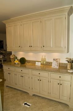 Country French Storage and Counter Space