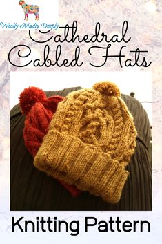 I wanted to make a cabled hat and was inspired by the gothic arches of cathedrals. Christmas Knitting Patterns, Knitting Ideas, Cable Knit Hat, Cathedrals, Arches, Knitted Hats, Gothic, Winter Hats, Christmas Gifts