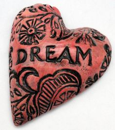 katherine mathisen ~ dream..could make from paper clay and paint, then attach to an art journal book cover...