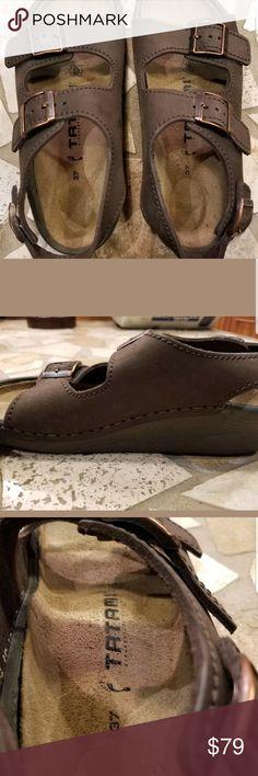 d315aa346efe Birkenstock tatami Birkenstock Tatami Women s Sz 37 Brown Leather Sandals  Slingback. Worn once. I