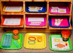 Pumpkin Theme Tot Trays ~ Fun Tot School theme with loads of free printables and hands on ideas.