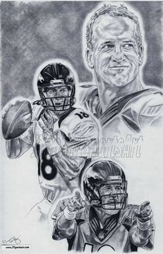 Peyton Manning of Denver Broncos Art poster by footballArt on Etsy