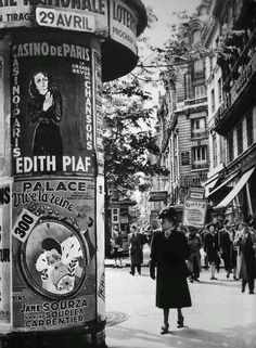 Edith Piaf is my mother's fave French singer whom I've come to adore! Je' Taime…