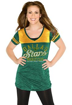 Touch by Alyssa Milano Dallas Stars The Coop V-Neck T-Shirt