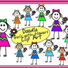10 doodle girls with flowers....  yes, they are 'doodles' so they may have slight imperfections :-)   You may use these girls in your products for ...