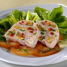 Zöldségekkel töltött sonkatekercs kocsonyázva Receptek a Mindmegette.hu Recept gyűjteményében! Good Food, Yummy Food, Delicious Recipes, Thai Red Curry, Chicken, Meat, Ethnic Recipes, Delicious Food, Healthy Food