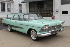 Hemmings Find of the Day – 1958 Plymouth Suburban Pretty sure this was the car my Mom drove when we were really little. in the days before seat belts. Plymouth Savoy, Plymouth Cars, Vintage Cars, Antique Cars, Beach Wagon, Station Wagon Cars, Ford, Us Cars, Sexy Cars