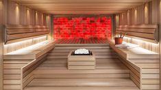 En imponerande bastu med interiör i Ceder som ger bastun ett levande och sobert intryck!