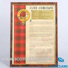 Cameron Clan History
