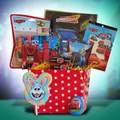 Easter Gift Basket for Boys From Disney Pixar Cars and Friends ~~ #easter #giftbasket #disney #pixar #carsandfriends ~~