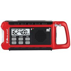 Midland - Weather Alert Radio - Red, Black