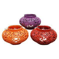 Round Pierced Ceramic Lanterns