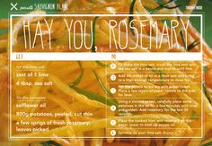 Pair It + Share It: Hay You, Rosemary + #SauvignonBlanc #food #wine