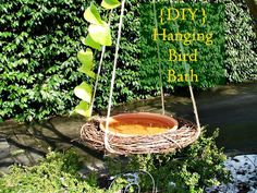 {DIY} Hanging bird bath -  My House and Home