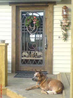 Entry Door - Western Style Glass Door 19th Cen Design - 7004GPA