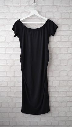 d7b0815c9b7 New Look Black Bardot Style Maternity Dress Size 12  fashion  clothing   shoes