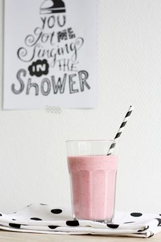 ... raspberry smoothie ...