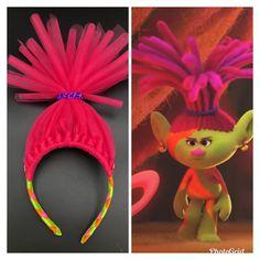 Troll Headband Poppy Headband Troll Poppy Headband Chevron Poppy Headband