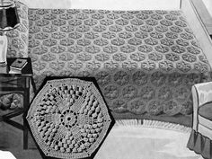 Star Drift Bedspread crochet pattern from Bedspreads, originally published by the Spool Cotton Company, Book in Crochet Bedspread, Crochet Tablecloth, Crochet Doilies, Crochet Blankets, Crochet Flower, Vintage Crochet Patterns, Afghan Crochet Patterns, Vintage Knitting, Crochet Afghans