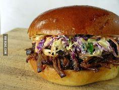 BBQ Beef with Blue Cheese Coleslaw