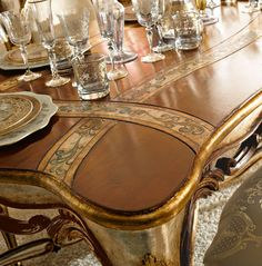 Table detail from Andrea Fanfani Italy