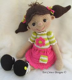 Crochet Pattern So Cute Dolly by Teri Crews by TeriCrewsCrochet