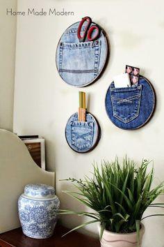 Denim Pocket Organizers (Trend Alert) - Home Made Modern