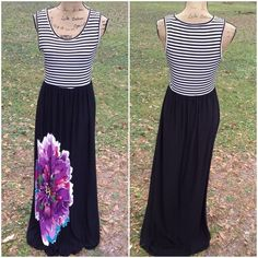 """Gorgeous Maxi Dress by Cato This gorgeous maxi dress has a rounded neckline, elastic waist for comfort, is in excellent like new condition and is the perfect addition to your closet! 92% polyester 8% spandex. Bust: 36"""" waist: 30"""" (stretches to 36"""") length: 58"""" Cato Dresses Maxi"""