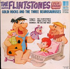 "The Flintstones ""Flip Fables"" with the voices of Alan Reed & Mel Blanc on Hanna Barbera 2021 from 1965 CHILDREN'S 33RPM LP"