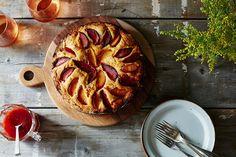 Crème Fraîche Plum Cake with Plum Caramel Recipe