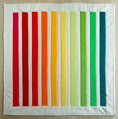 Rainbow quilt.