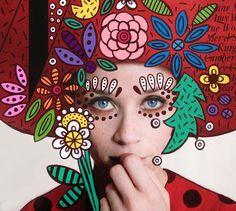 Ana Strumpf copertine di moda in chiave pop • Grafica