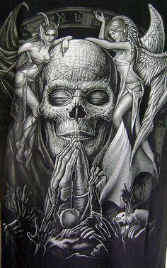 Only the best free Demon Tattoo Sketches For Men tattoo's you can find online! Demon Tattoo Sketches For Men tattoo's to print off and take to your tattoo artist. Skull Tattoos, Sexy Tattoos, Body Art Tattoos, Dark Fantasy, Fantasy Art, Angel Y Diablo, Model Tattoo, Totenkopf Tattoos, Ange Demon