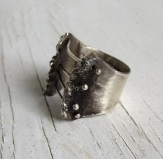 Sterling Silver Corset Ring Bondage Ring by ChaseAndScoutDesign