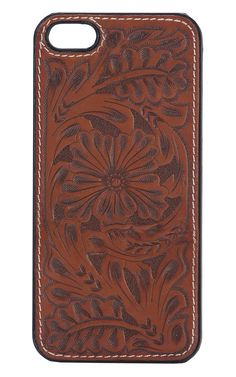 Justin® Tan Tooled Western Floral Iphone 5/5S Case