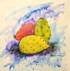 Minnie Valero: PRICKLY PEAR, acrylic on canvas