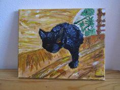 ......Manualidades e afins......: Gato Preto no Amarelo