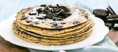 Deze heerlijke pannenkoeken met stukjes Oreo koekjes moet je een keer proberen!