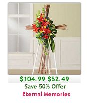 Beautiful standing arrangement - Save 50% only $52.49