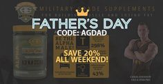 It's Father's Day weekend! Help your dad maintain his #alpha male status  Use code AGDAD at checkout to save 20% off all regular priced items. Gift cards available. . FOLLOWFOLLOW  @advancedgenetics  @advancedgenetics @advancedgenetics  @advancedgenetics  . ||>-------<|| .  www.agarmy.com  Supplements  Muscle Building / Fat Burning  Pre/Intra/Post Workout Nutrition  Hormone Optmization ------------------------------- Advanced Genetics military grade bodybuilding supplements. Fully dosed…
