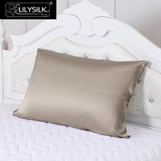 LILYSILK 100% Silk Pillow Towel for Hair 19 Momme Mulberry Pillow Cover One-sided with Silk ribbon ties at the backside 1 piece 1